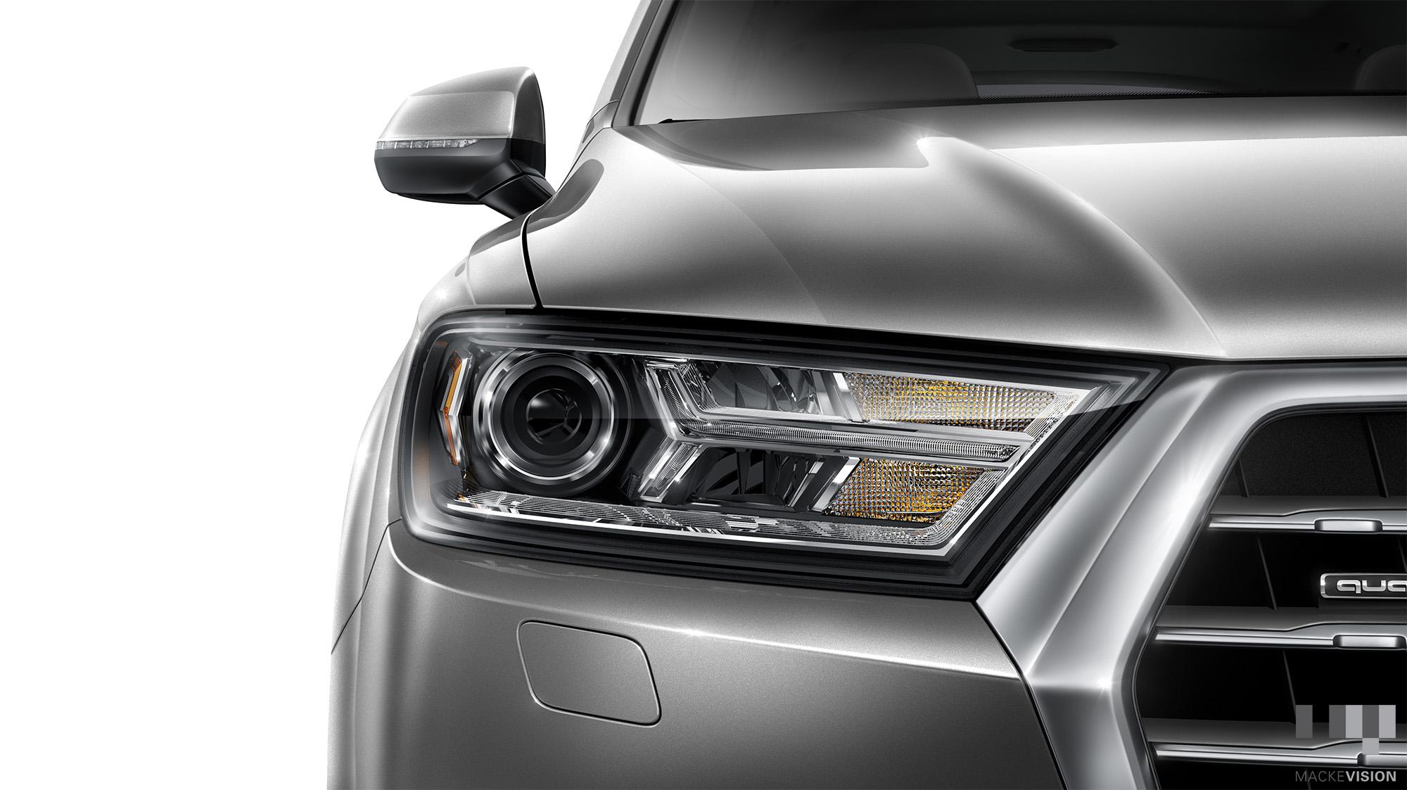 Headlight detail lighting. Maya/Vray