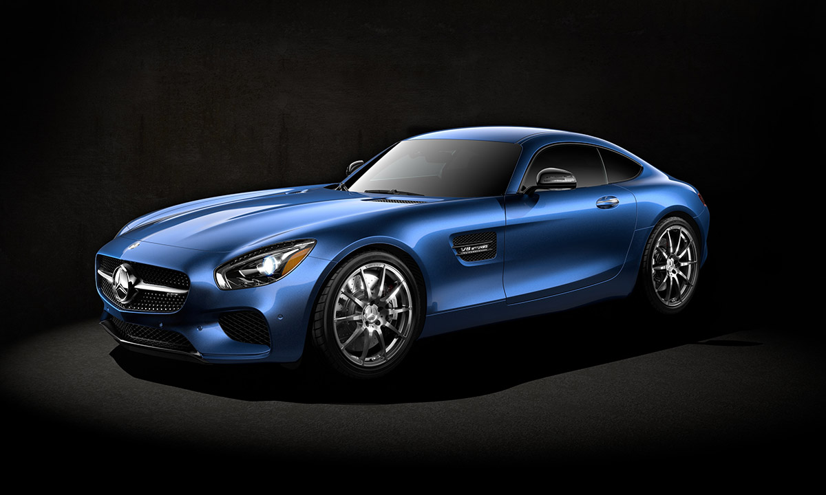 Mercedes GTS. 3ds Max/ Vray/ Nuke